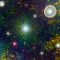 Image from Next postcard shows colorful bursts of stars