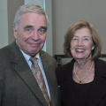 Shaun O'Connell and Theresa Mortimer, honored for 50 years of service to UMass Boston