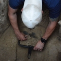 The students had to make sure they reached the very bottom of the test excavation trenches.