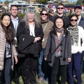 Professor Crystal Schaaf and UMass Boston graduate students were on hand for the satellite launch.