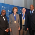 Following his convocation address, Chancellor Motley presented the inaugural Joint and Common Future Award.