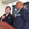 The UMass Boston community gathers around the men's hockey team
