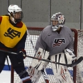 Team USA Goalie Molly Schaus is in her third year as an assistant coach for the UMass Boston women's hockey team.