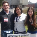 Ethan Schein, Daniela Bravo and Rachel Tsavalakoglou at the Massachusetts Statewide Undergraduate Research Conference