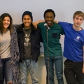 The Slam Poetry Society: Jason Henry Simon-Bierenbaum, Amber Rodriquez, Allister Quilon, Ekelemchi Okemgbo, and Christian Arthur