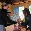 Angela Stone-MacDonald, training teachers in Moshi, Tanzania through the Toa Nafasi Project.
