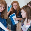 Students receive help at Transfer Open House.