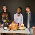 Jacqueline Lageson's criminology students collected 904 food items. This is just a sampling of what Lageson's classes collected.