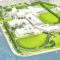 Rendering of what the UMass Boston campus will look like at the end of the Utility Corridor and Roadway Relocation project.