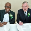 Provost Winston Langley and President Don Barry signed the memorandum of understanding.