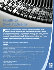 Poster that says Faculty on Book Publishing