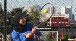 Beacons tennis star Nuha Muntasser was named the Little East Conference Rookie of the Year as a freshman.