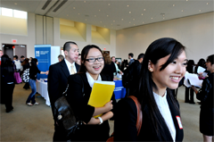 Photo of candidates at Career Fair in 2011.