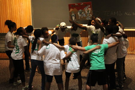 Students in the Urban Scholars Program Perform a Group Dance