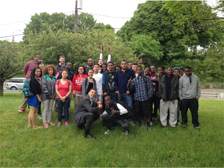 Group of Urban Scholars pose for a picture