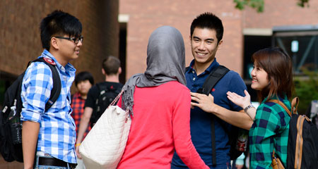 International students at UMass Boston