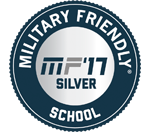 Military Friendly 2017 Silver School badge