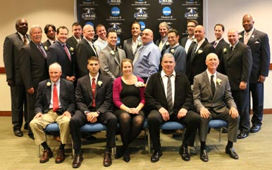 2015 Hall of Fame Class with Vice Chancellor Charlie Titus and Chancellor J. Keith Motley