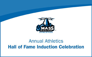 Graphic that says Annual Athletics Hall of Fame Induction Celebration