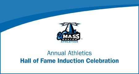 Image that says Annual Athletics Hall of Fame Induction Celebration