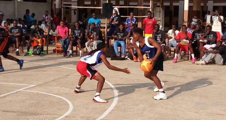 YES with Africa participants playing basketball