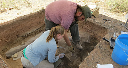 Archaeology Students in Sante Fe, Mexico