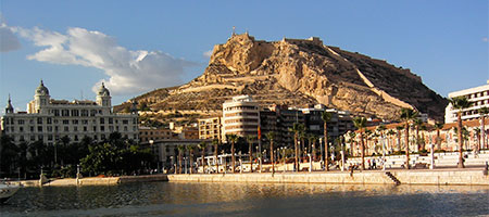 View of Castillo Santa Barbara in Alicante