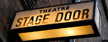 Theatre Stage Door sign