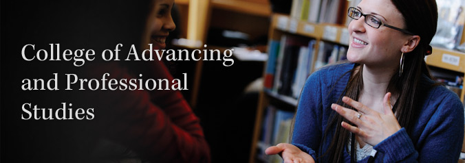 College of Advancing and Professional Studies is easily accessible from downtown Boston.