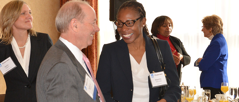 Richard Holbrook networking after building a better boston award ceremony