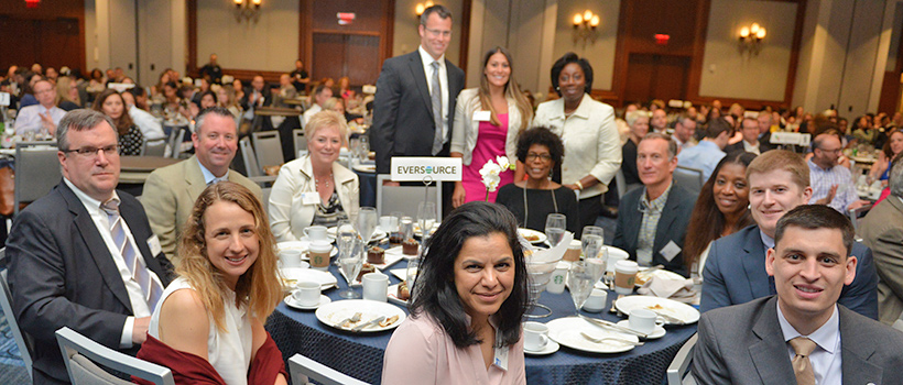 Lunch attendees from the Eversource sponsor table
