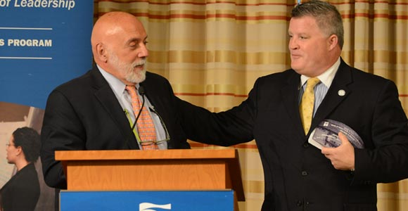 Philip Carver of UMass Boston honored at annual leadership luncheon