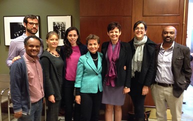 Christiana Figueres with Center for Governance and Sustainability staff