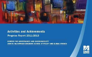 Center for Governance and Sustainability Progress Report