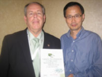 Berkeley Cue and Wei Zhang with the book they edited