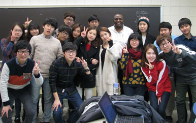 Visiting students from Kyunghee University, South Korea