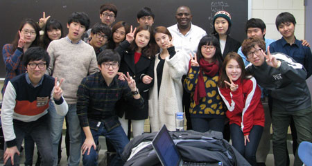 Students from Kyunghee University