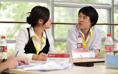 Students Debating in a Beijing Classroom are Indicative of the Education Building Initiatives of the Center for Peace, Democracy, and Development.