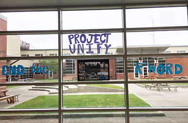 Project UNIFY site visit picture from Currituck County High School in Barco, NC