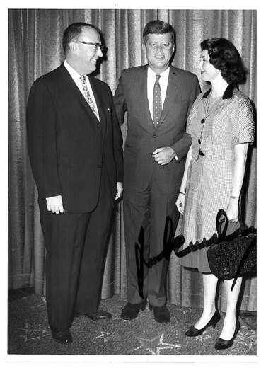 Betty Taymor and JFK