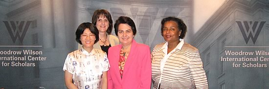 Principal Investigators in the Gender and Multicultural Leadership Projec: Pei-te Lien, Carol Hardy-Fanta, Christine Marie Sierra, and Dianne M. Pinderhughes.