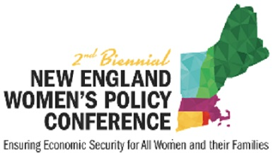 Graphic says Biennial Second New England Women's Policy Conference