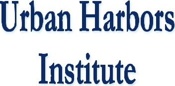 Logo for the Urban Harbors Institute, a Collaboraor of the Collaborative Instittude for Oceans, Climante, and Security.