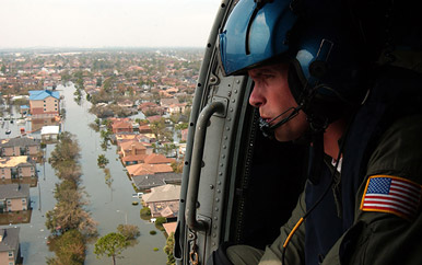 National Guard Surveys Katrina Site