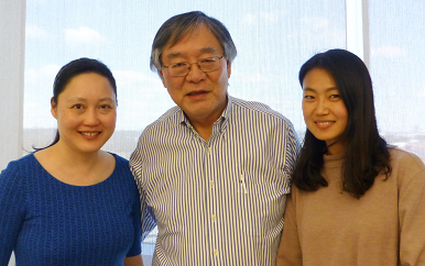 Photo of three research fellows
