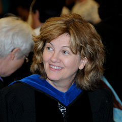 Jan Mutchler at commencement