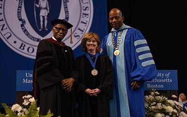 pic of prof mutchler, provost, and chancellor