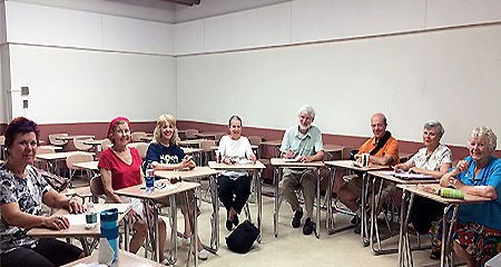 Members of the Informal Writing Group of the OLLI program at UMass Boston