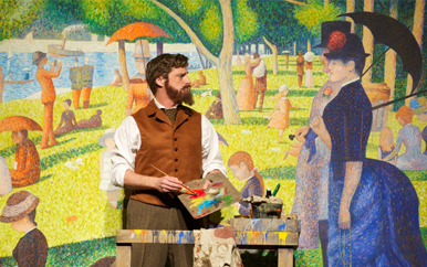 A photo capturing a scene from the play