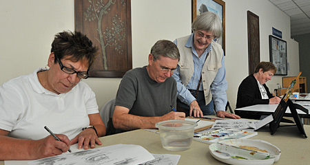 Watercolor Class at The Osher Lifelong Learning Institute at UMass Boston